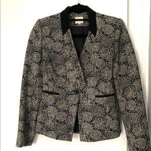 REISS London Wool Blend Black & White Blazer